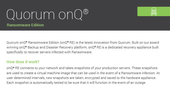 Quorum Data Ransomware Edition Cover 112918A